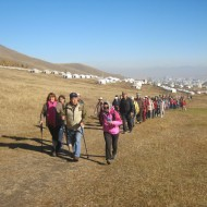 Hiking goup in Mongolia 2015